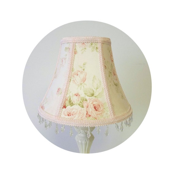 Mary Rose Pink Floral Shabby Chic fabric ~ Lamp Shade