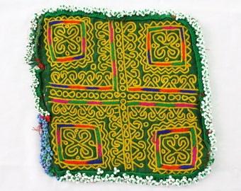 Hand Made Doilies - Afghan Table Cloths - Ethnic Tribal Kuchi - Vintage Doilies - Hand Embroidered - Traditional Nomadic Doilies # D01