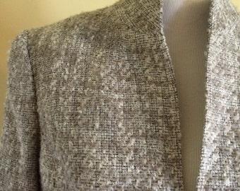 Jones New York Blazer/ blazer wool beige/ Jones New York pattern/ by Dorila Clothes