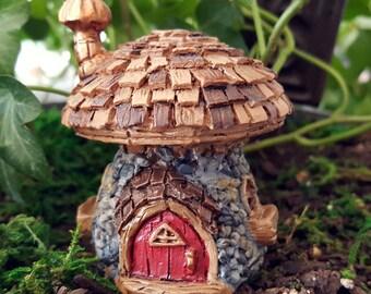 Miniature Teeny Shingled Mushroom Fairy House