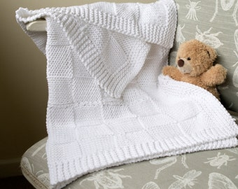 Easy Knit Blanket Straight Needles : Swaddle basket Etsy