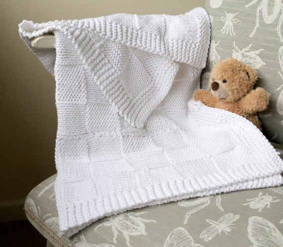 Easy Knitting Patterns For Baby Blankets For Beginners : Easy baby blanket knitting pattern beginner