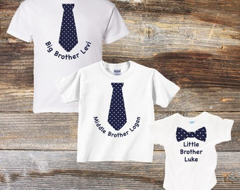 Big Brother, Middle Brother, Little Brother Shirt Set