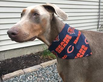 Med/Large Chicago Bears Dog Bandana