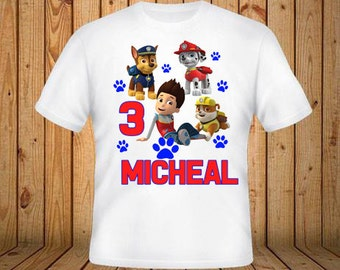 Paw Patrol Birthday Shirt