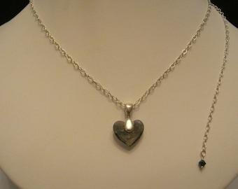 Smokey Crystal Heart Pendant