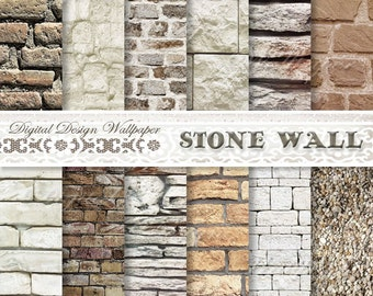 COMMERCIAL USE,Brick Wallpaper, Digital Paper Pack,Brick Paper,Instant Download Backdrop, Stone Background,Grunge Scrapbook Paper,Brick Wall