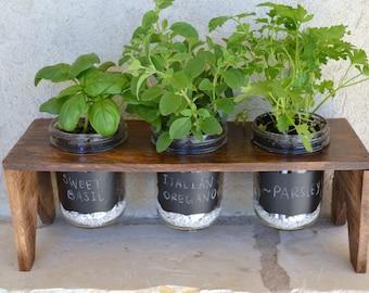 Mason Jar Herb Garden-With Chalkboard Vinyl