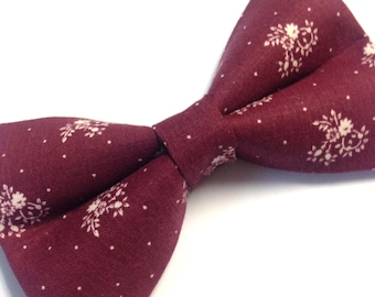 Burgundy Dog Bow tie / red dog bow tie / pet supply / pet accessories / dog tie