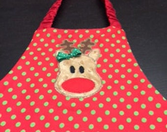 Reindeer Aprons  for Children - 3 to 6 years old