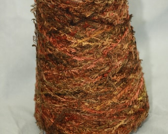 Parrot Feathers - Silk Nylon Blend Yarn - Marooned (Brown/Green)