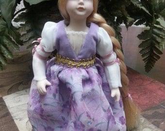 Avon Fairy Tale Porcelain Doll Collection Rapunzel - 1986
