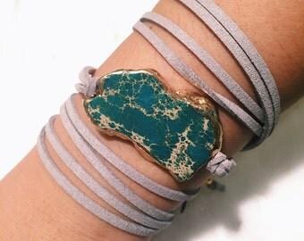 green/blue dye stone | choose a wrap color