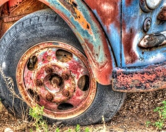 Colors of an Old Truck #2: Still life art photography prints for home or office wall decor.