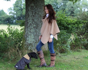 Sale ~ Tweed Cape in Summer Wheat, fully lined