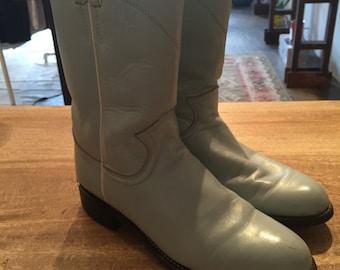 Sky Blue Vintage cowboy boots