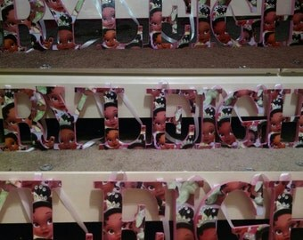 SALE!!!Baby Princess Tiana Wooden Letters((48 hour sale))