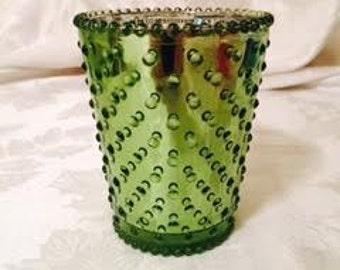 Lime Green Shimmer Mirror Finished Vase