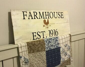 Farmhouse Wall Sign Custom