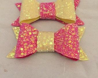 Glitter bows, glitter hair bows, hair clips, hair accessories, girls hair accessories