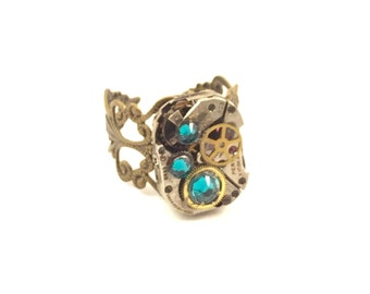 TURQUOISE Steampunk Vintage Ring