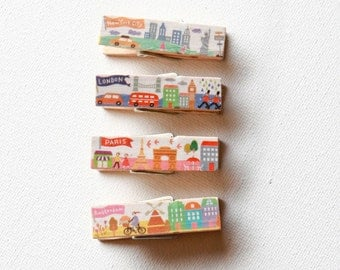 Travel Themed Clothespins