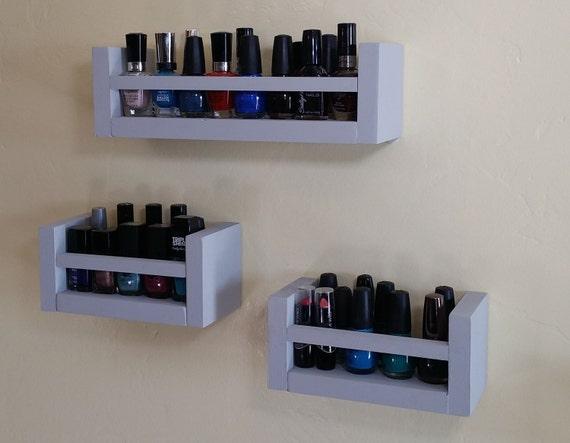 makeup organizer finger nail polish shelf small