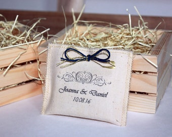 Unique Wedding Favors - Custom Reusable Pouch with best handmade artisan soap