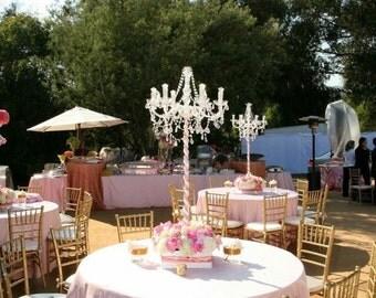 Blush tablecloth, baby shower table cloth, lamour satin tablecloth, table overlay, wedding tablecloth, bridal, wedding decor, SALE