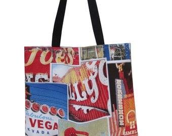Tote bag Las Vegas large long handle