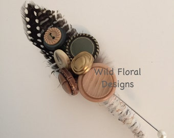 Woodland rustic buttonhole