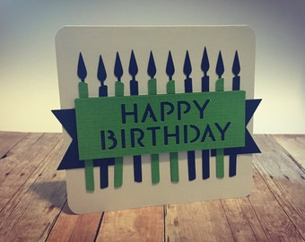 Handmade Happy Birthday Greeting Card