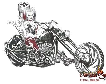 Harley Quinn Poster, Harley Quinn Digital Download,
