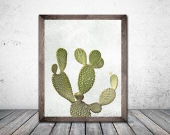 Cactus Print  Cactus art Botanical Print Plant Print  Printable Art Print Download