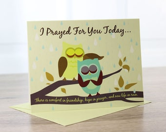 Owl Friends Prayer Note Card 5/pkg