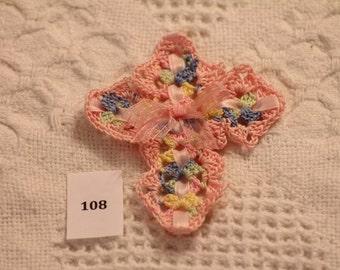 Hand Crocheted Cross 108