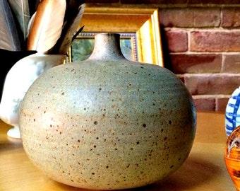 Vintage Studio weed vase. Lovely green and lavender glaze