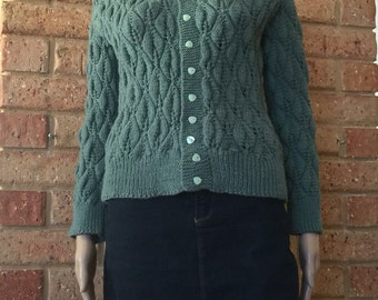 Hand Knitted Vintage Style Cardigan