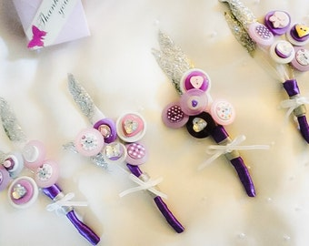Wedding corsage - Purple Haze