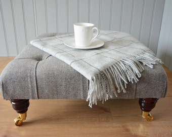 BESPOKE FOOTSTOOL/OTTOMAN - Square Buttoned