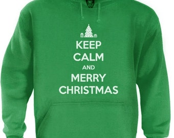 Keep CALM And MERRY CHRISTMAS Hoodie S-5XL