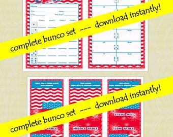 USA Patriotic (Memorial Day or 4th of July) Bunco