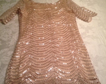 Glamorous vintage sequined lined top