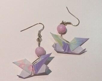 Origami Butterfly multicolor earrings