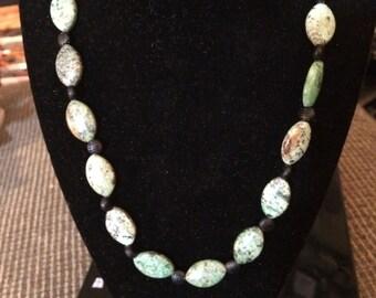 Light green jasper necklace
