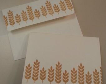 Wheat Stationery, Set of 8