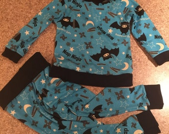 Custom Crew Neck Winter Pyjamas Sizes 000-4