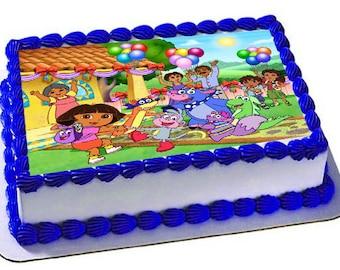 Dora The Explorer Edible Cake Topper, Dora Party ,Dora Frosting Sheet