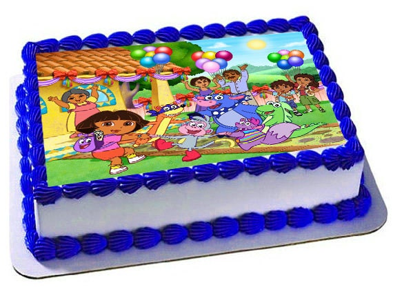Dora The Explorer Edible Cake Topper Dora Party Dora
