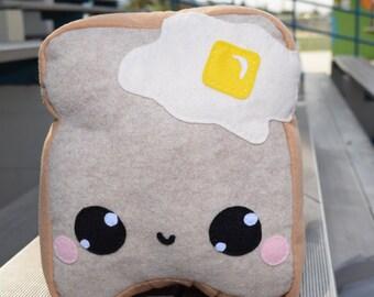 Wheat French Toast Doll/ Happy Stuffed Wheat Toast Bread Plush Toy